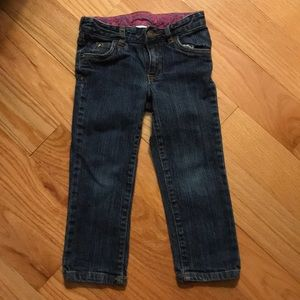 3T Carter's girls jeans with adjustable waist